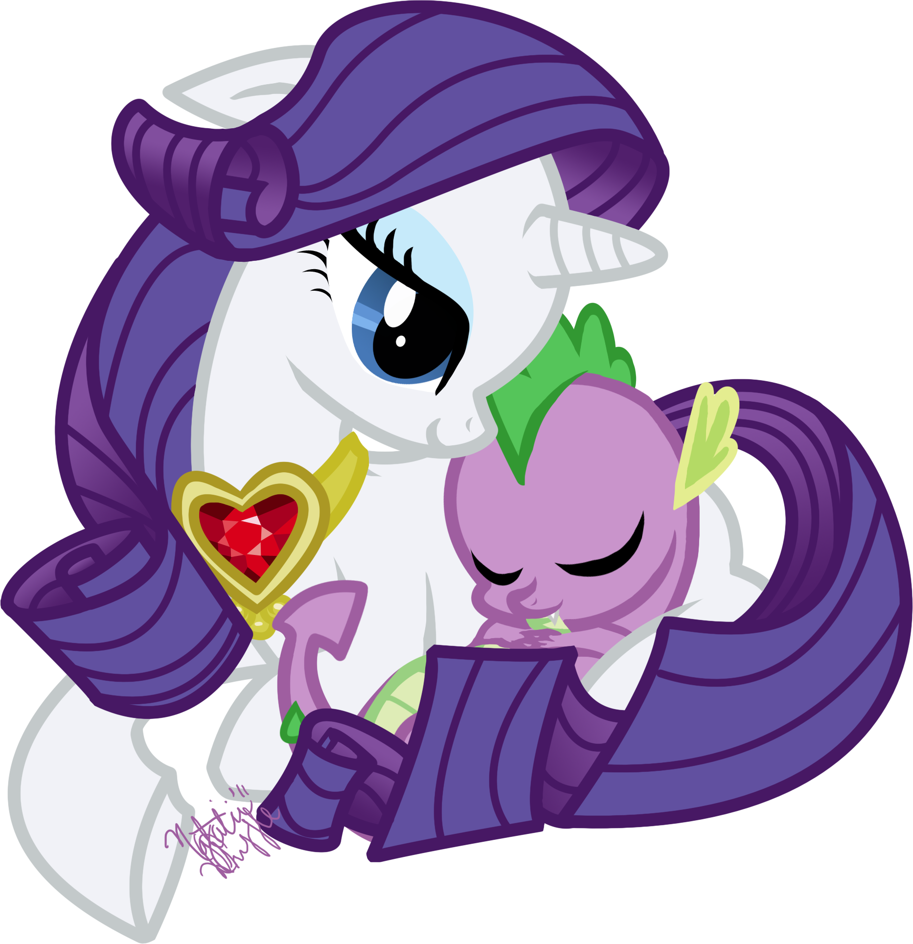 Rarity And Spike Have A Baby photo 2