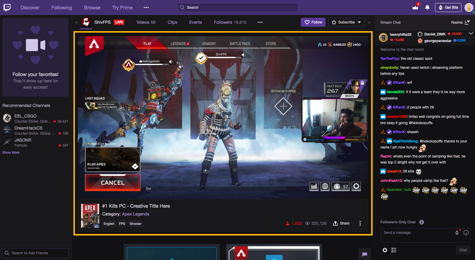 Twitch Video Player Size photo 28
